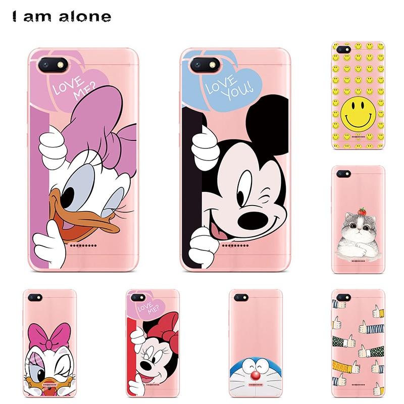 I am alone Phone Cases For Xiaomi Redmi 6A 5.45 inch Solf TPU Colorful Fashion Shell For Xiaomi Redmi 6A 2018