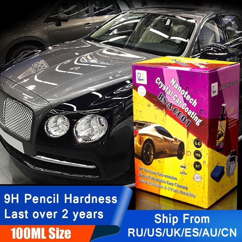 In aumento Star RS-A-CC01 Liquido di Vetro Nano Ceramica Cura dell'auto Rivestimento Idrofobo Pro Auto di Cristallo Rivestimento 100 ml Kit per l'utente FAI DA TE