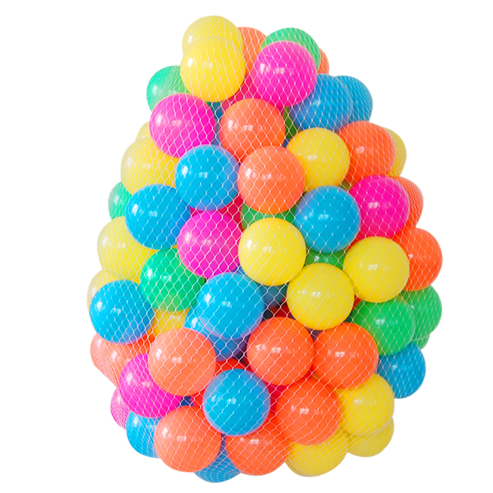 50PCS 6cm Eco Friendly Colorful Soft Plastic Ocean Wave Ball Baby Toys