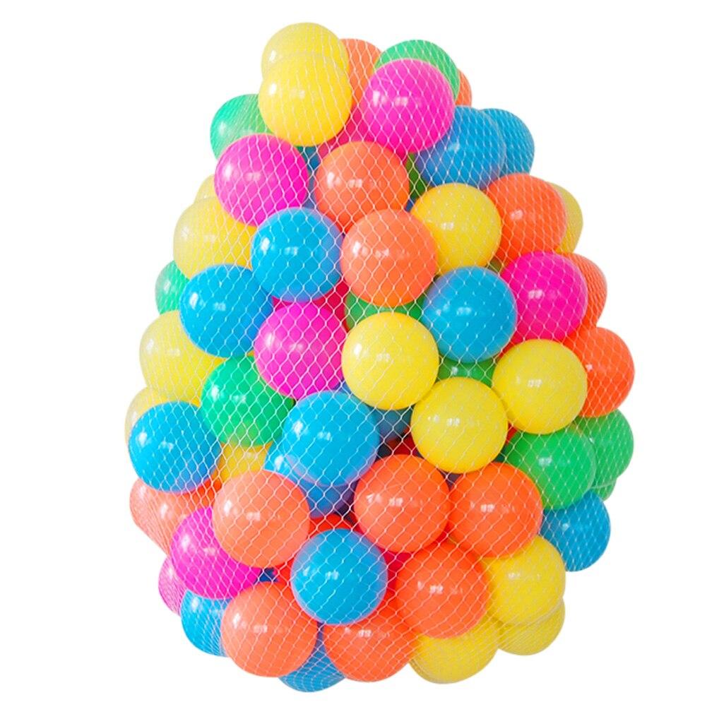 50pcs 6cm Pool Balls Eco-Friendly Soft Ocean Ball Colorful Swim Pool Plastic Balls Tent Play House Toy