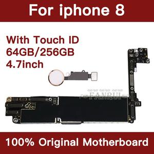 Image 2 - Factory Unlocked 64GB 256GB Completed Motherboard For iPhone 8 4.7inch Original Mainboard With Touch ID IOS Update Support