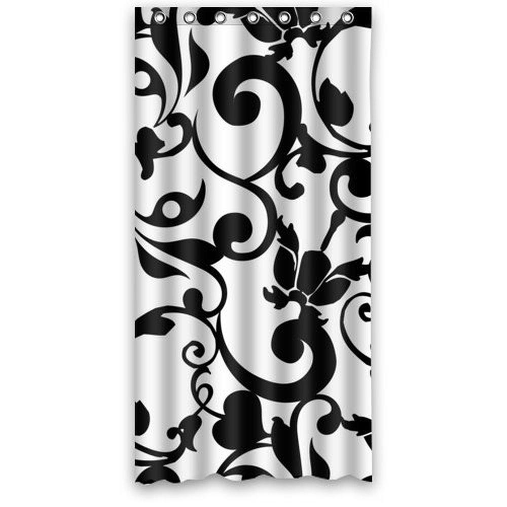achetez en gros noir blanc rideaux de damas en ligne des grossistes noir blanc rideaux de. Black Bedroom Furniture Sets. Home Design Ideas