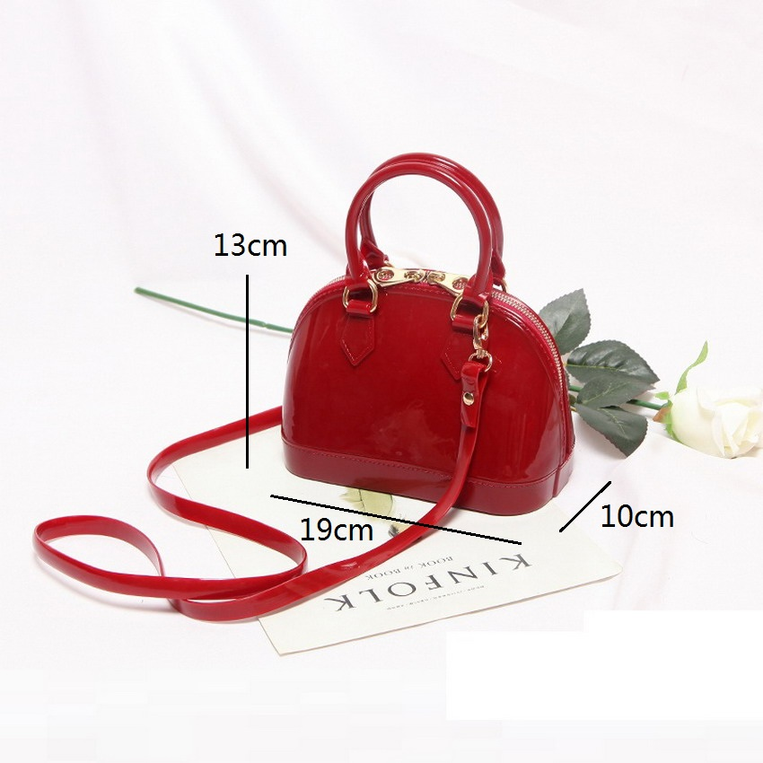 Image 4 - 2019 New Silicone Summer Sweet Candy Jelly Shell Handbags Women Casual Tote Bag Ladies Crossbody Shoulder Beach Bags Girls Bolsa-in Shoulder Bags from Luggage & Bags