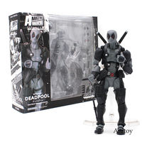 Super Hero Gray Deadpool Comic Film Sci Fi Marvel Legends X men No.001 Anti hero Revoltech Action Figure Toys