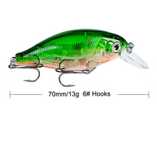 лучшая цена Brand Lifelike VIB Floating Fishing Lure 7CM 13G Pesca Hooks Fish Wobbler Tackle Crankbait Artificial Japan Hard Bait 1pcs