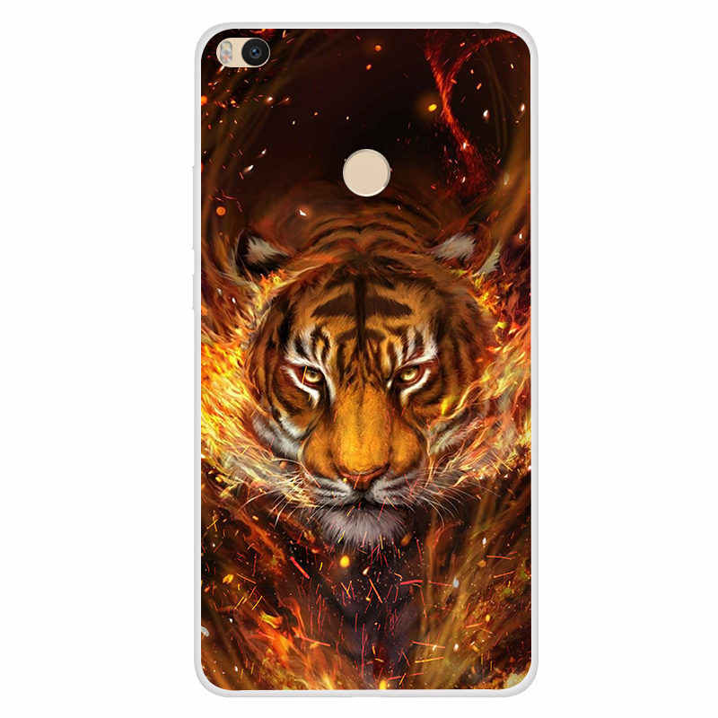 Cover For Xiaomi Mi Max 2 Case 3D Printed Silicon TPU Back Covers For Xiaomi Mi Max2 Mimax2 Phone Cases Tiger Space Flower Skin