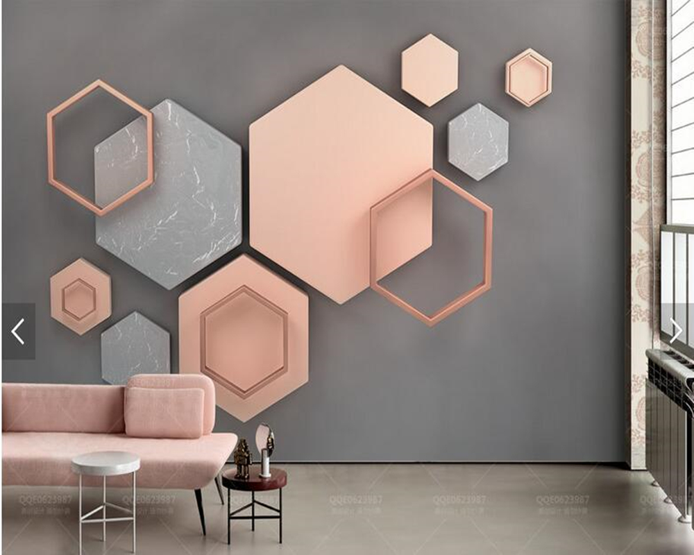 Custom wallpaper 3d stereoscopic, minimalist geometric murals for living room bedroom TV backdrop home decor wallpaper custom 3d mural wallpaper european style painting stereoscopic relief jade living room tv backdrop bedroom photo wall paper 3d