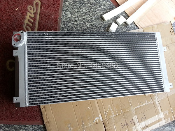 WJIER screw air compressor plate fin aluminum radiator oil cooler air cooler air cooled 6243722800 ss3001 12 4 12sqm and 4mm fin spacing without heater air cooler