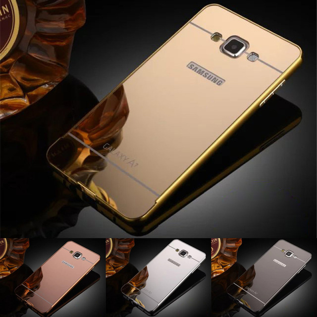 new style 1e8a6 28676 US $4.49 |For Samsung A7 2015 Case Plating Metal Frame With Back Cover Hard  Case for Samsung Galaxy A7 A700 A700F Phone Shell Cover on Aliexpress.com  ...
