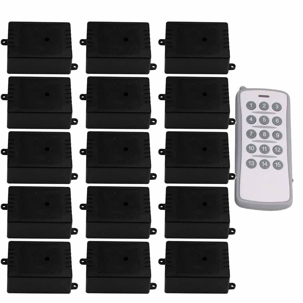 433MHz 220V 1CH Self-locking Remote Control Electric Garage Door Light