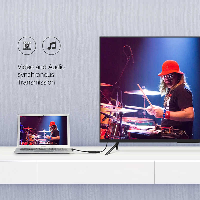 Ugreen 4K Displayport DP כדי HDMI מתאם 1080P תצוגת יציאת כבל ממיר למחשב נייד מקרן Displayport כדי HDMI מתאם