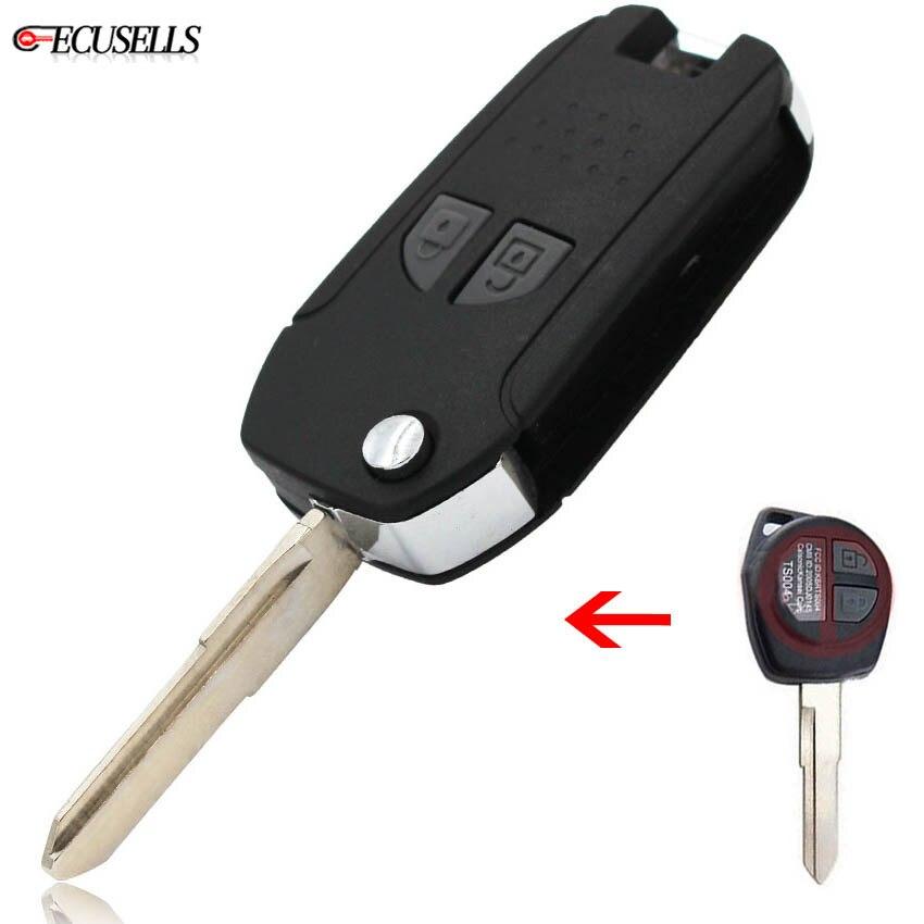 Complete Remote Key 2 Button 433MHz ID46 for SUZUKI SX4 Uncut Blade HU87