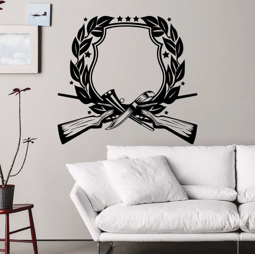 Lovely Wall Decal Hunting Gun Rifle Star Decals Art Bedroom Decor Sticker Murals  22inchX24inch In Wall Stickers From Home U0026 Garden On Aliexpress.com |  Alibaba ...