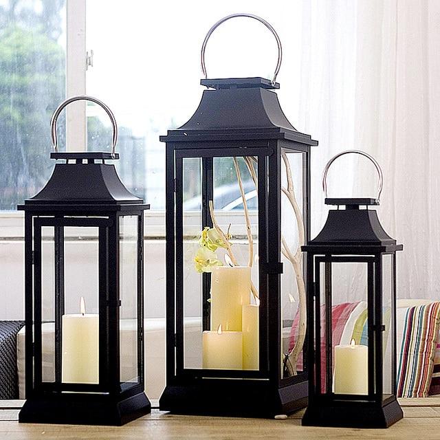 moderne am ricain grande image coupe vent tieyi bougie lanterne bougeoir table d coration de la. Black Bedroom Furniture Sets. Home Design Ideas
