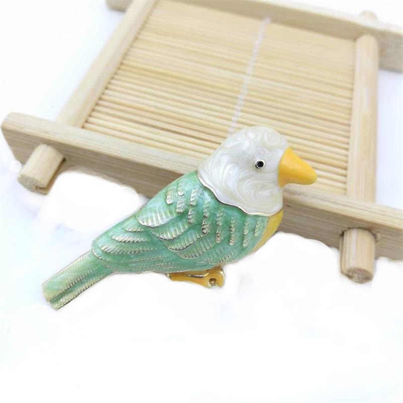 Funmor Милая брошь с птицами эмалированные шпильки сплав для женщин платье рубашка лацкан аксессуары ювелирные украшения животное подарок Bijoux