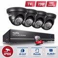 Sannce 1080n 4ch sistema de cctv hd 4 unids 720 p ir al aire libre cámara de seguridad de 4 canales de video vigilancia dvr kits 1 tb hdd