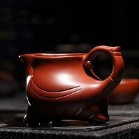 Three Legs Dragon Clay Zisha Cha Hai Gongfu Tea Serving Pitcher Fair Cup 220ml