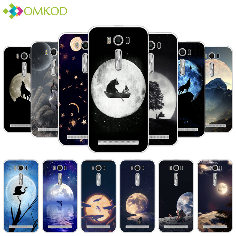 Phone Case Soft TPU Lunar Cover for Asus ZenFone 2 Laser ZE500KL 5.0 inch Silicon Luxury Capa For ASUS Zenfone ZE500KL