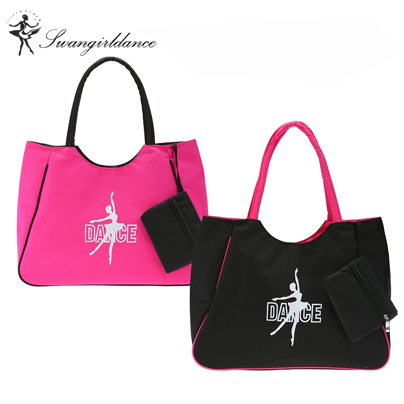 Lady Pink Black Ballet Bag Adult Waterproof Canvas Yoga Dance Bags for Women Ballet HandbagAS8619