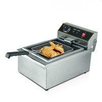 Elektrische Friteuses blast oven commerciële enkele cilinder 10 liter dikke-gebakken koekenpan Gebakken chick