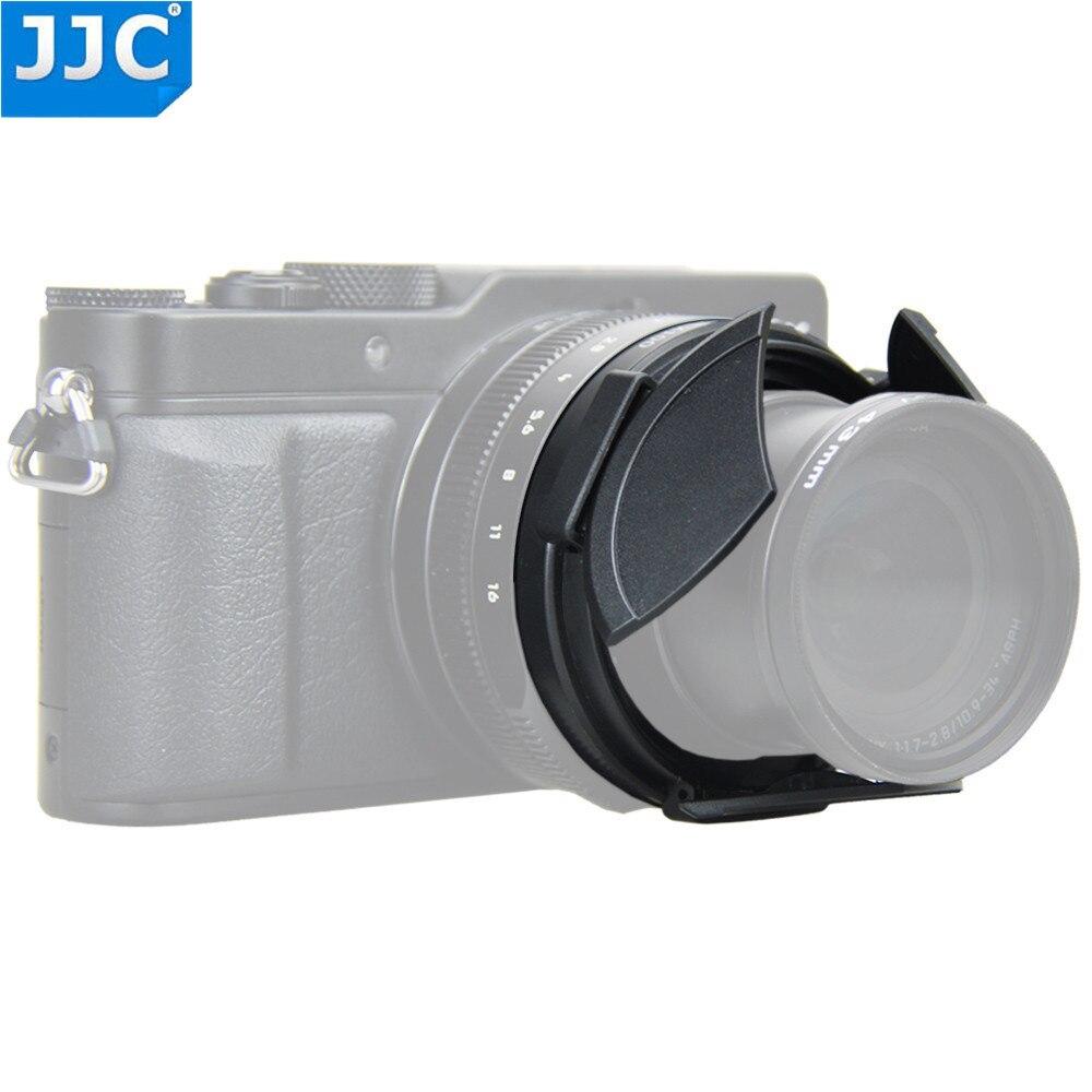 JJC Automatische Selbst Halte Auto Objektiv Kappe für Panasonic LUMIX DMC-LX100/LEICA D-LUX (Typ 109) als DMW-LFAC1 Schutz Haube