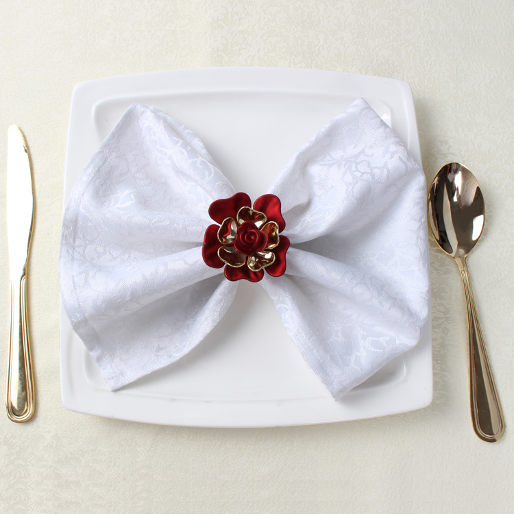 napkin buckle napkin ring for wedding party red napkin holder china