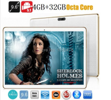 9.6 pulgadas tablet pc Octa core bluetooth wifi GPS 1280*800 5.1MID 5.0MP 4 GB 32 GB Android 3G WCDMA Phablet DHL Libre gratis