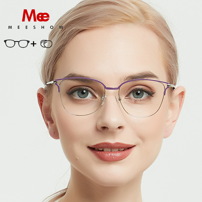 2019 Meeshow Prescription Glasses Titanium Alloy Women Oculos De Grau Feminino Frame