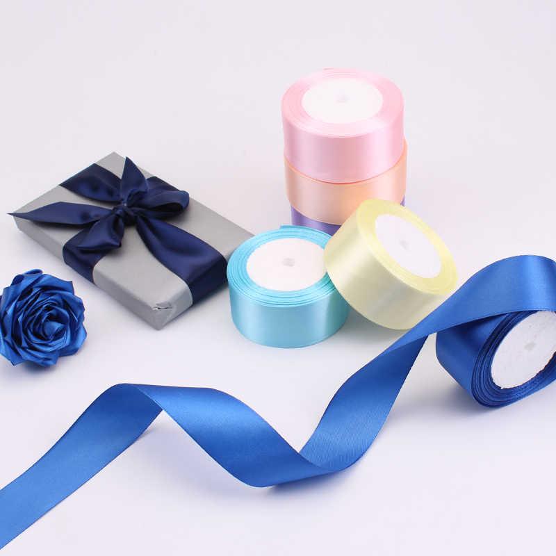 גבוהה באיכות 25 חצרות/רול מבהיקי סרטי סאטן לחתונה מסיבת חג המולד Decoration6mm-40mm DIY קשת סרטי קרפט כרטיס מתנה