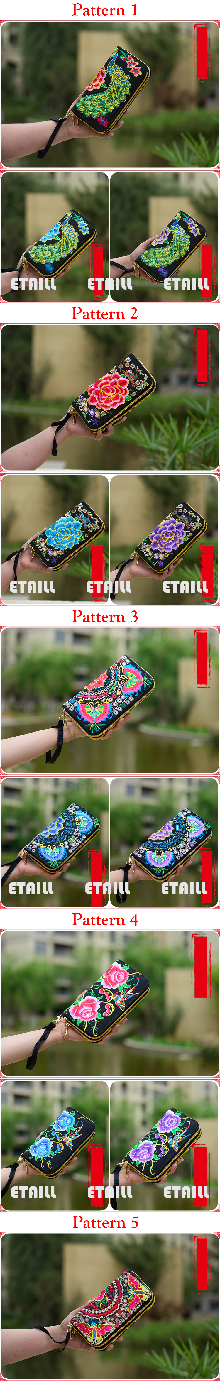 ethnic embroidered purse