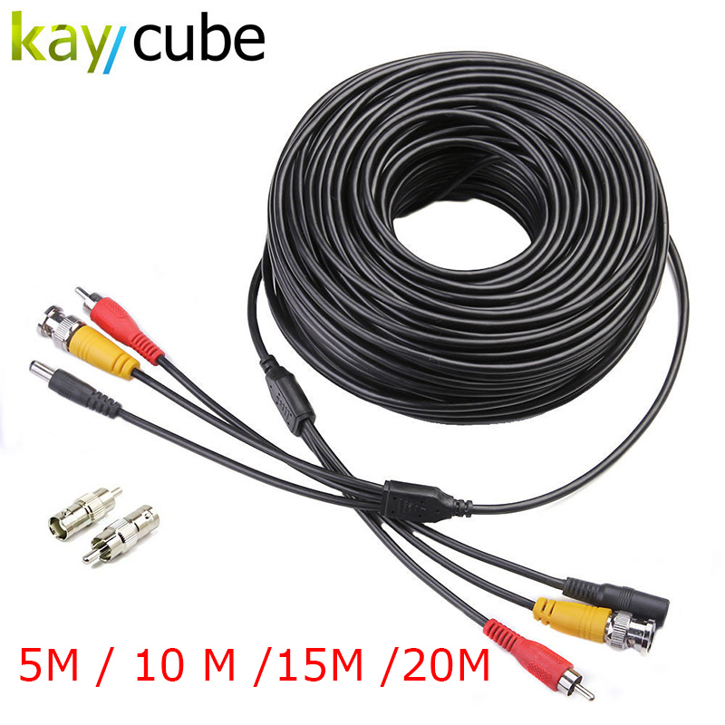 5M / 10M / 15M / 20M Security CCTV Cable BNC RCA CCTV Camera Video Audio AV Power Cable For Surveillance Camera DVR System