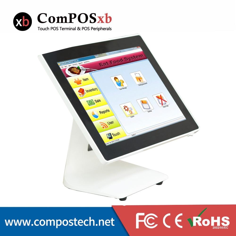 Livraison gratuite Windows 7 Version d'essai 15 pouces TFT CLD Point de vente tout en un écran tactile Pos système POS1518