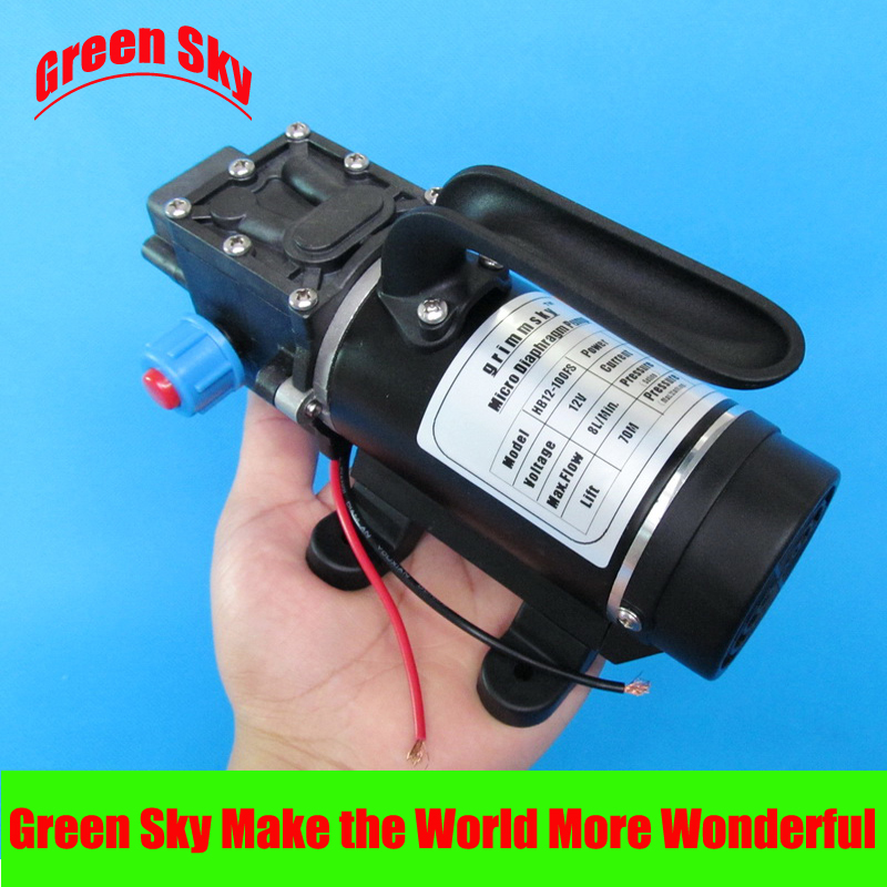 New Arrival return valve type with handle and cooling fan 8L/Min 100W DC 12V mini diaphragm pump delta 12038 12v cooling fan afb1212ehe afb1212he afb1212hhe afb1212le afb1212she afb1212vhe afb1212me