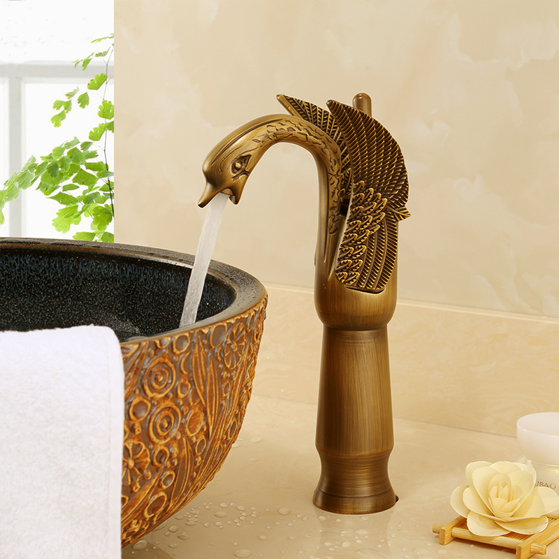5 Color long and short swan shape faucet gold, Copper toilet basin faucet vintage,Bathroom brass basin faucet hot and cold water5 Color long and short swan shape faucet gold, Copper toilet basin faucet vintage,Bathroom brass basin faucet hot and cold water