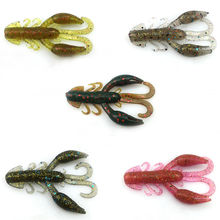 5pcs/bag soft baits fishing lures soft lure jig wobbler swivel rubber lure fishing worms soft shrimp bass lure free shipping