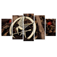 Hunger Games Catching Fire Logo Group Painting By Numbers Waterproof Canvas Fabric Home Decor Picture Wall