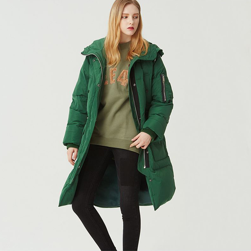 New 2017 Fashion High-Quality Winter Jacket Women Slim Warm Cotton Coat Mid-Long Army Green & Black Thick Loose Size Outwear