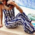 2016 Мода Новые Sexy Lady Рукавов Комбинезон Полная Длина Плед Комбинезон Летний Пляж Повседневный Комбинезон