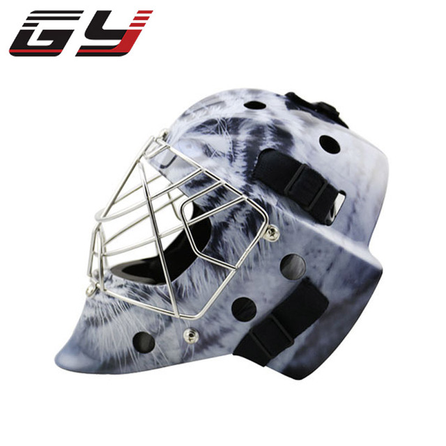Professional Goalie Mask Carbon Fiber Ice Hockey Goalie Helmet Cool