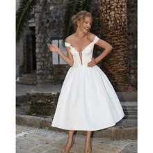 Verngo 2019 Fashion Appliques Satin Short Evening Dress Simple Off the Shoulder Gown Classic White Party