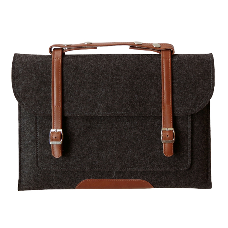 Wool Felt Laptop sleeve Case for Macbook Air Pro Retina 11 12 13 15 Inch Laptop Bag Handlebag Carry Bag for Mac Book Dell Case цена