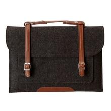 Wool Felt Laptop sleeve Case for Macbook Air Pro Retina 11 12 13 15 Inch Bag Handlebag Carry Mac Book Dell