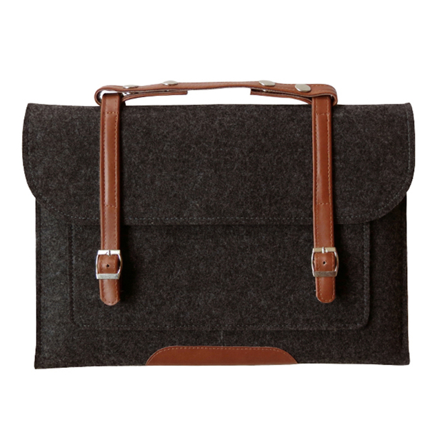Wool Felt Laptop sleeve Case for Macbook Air Pro Retina 11 12 13 15 Inch Laptop Bag Handlebag Carry Bag for Mac Book Dell Case