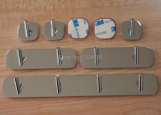 8 hooks /set sticky metal 3M self adhesive towel robe cloth hook ...