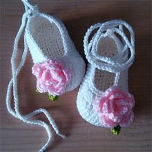 Zapatos de bebé con la mano, princesa del bebé zapatos inferiores suaves, zapatos del hogar de los niños
