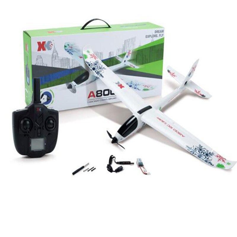 Модель самолета A800 5CH 3D 6 г режим 780 мм размах крыльев Fly самолета RC РТР самолет фиксированной крыло RC самолет Детские Рождественские подарок ...