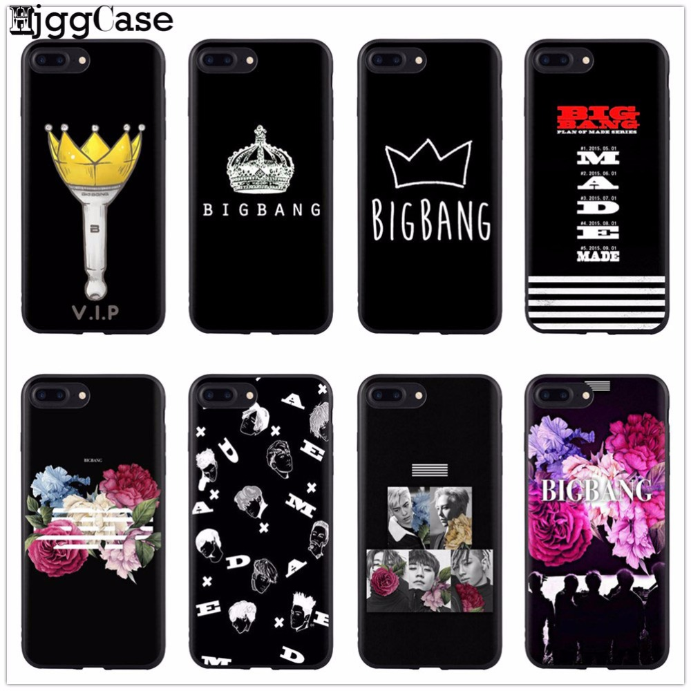 BIG BANG Case For iPhone 6 7 8 BIGBANG Soft silicone Phone Cover Case For iPhone 7 8 6 6S 5 5S SE 6Plus 6SPlus 7 7Plus 8 8Plus X iPhone
