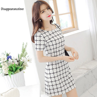 Disappearancelove 2017 SheIn Elegant Dresses For Woman Summer Style Ladies Sexy Round Neck Short Sleeve Bodycon