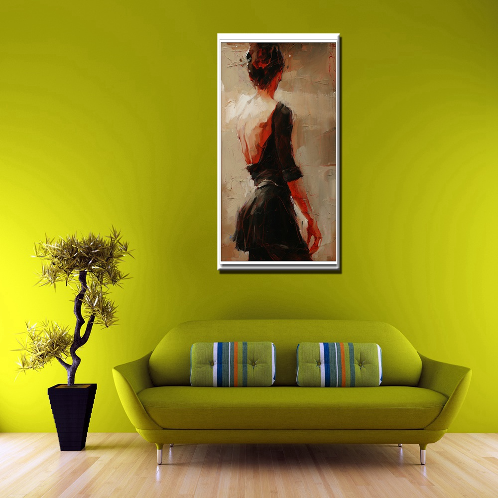 Knife Painting Oil Painting Print on Canvas Beautiful Woman Naked ...