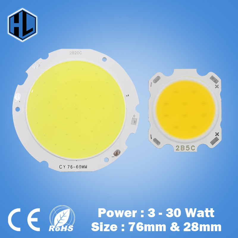 Free shipping, 3w 5w 7w 9w 10w 15w COB led chip beads diodes surface light for led bulb spotlight lamp